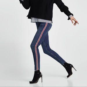 Zara Side Stripe Skinny Jeans
